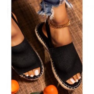 Shoes - !LAST PAIR SIZE 10! Peep Toe Slingback Espadrilles